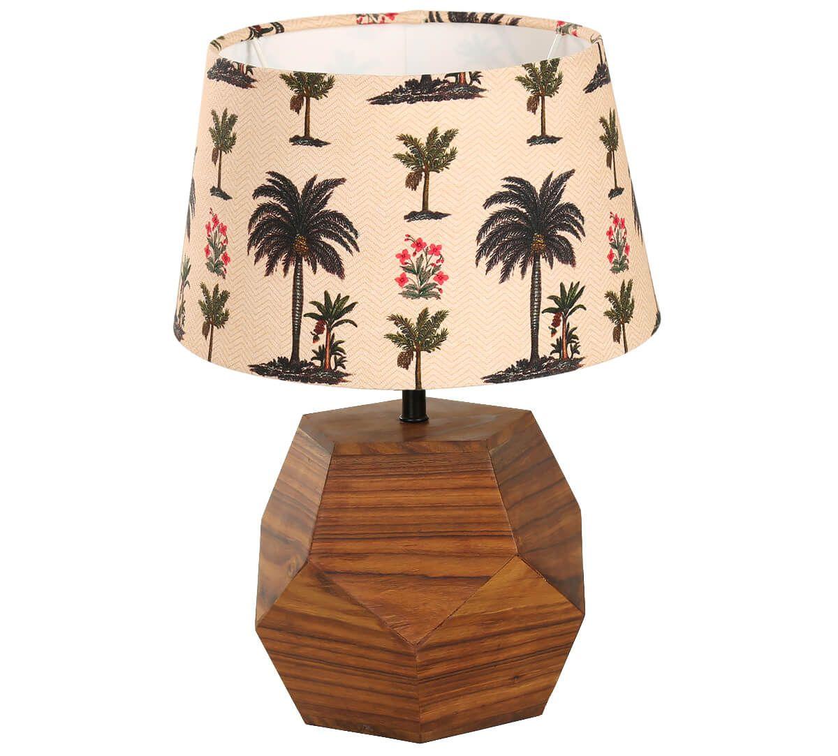 India Circus Chevron Palms Hexagonal Lamp Shade