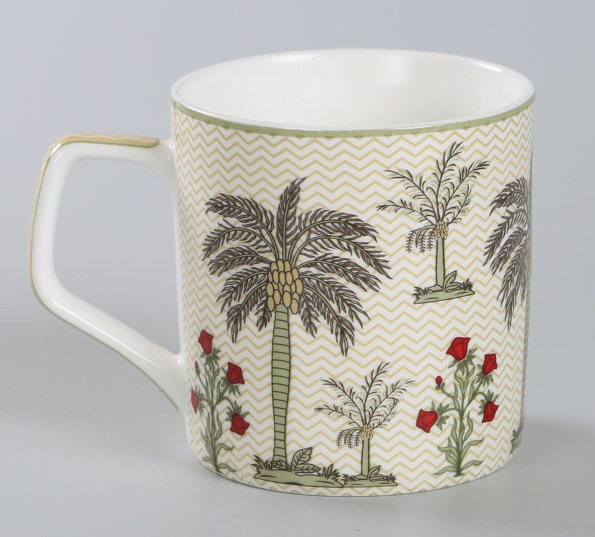 India Circus Chevron Palms Mug Set of 6