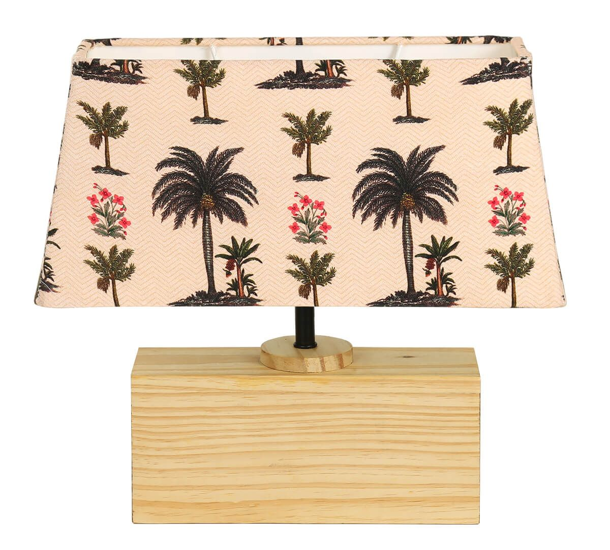 India Circus Chevron Palms Rectangle Lamp Shade