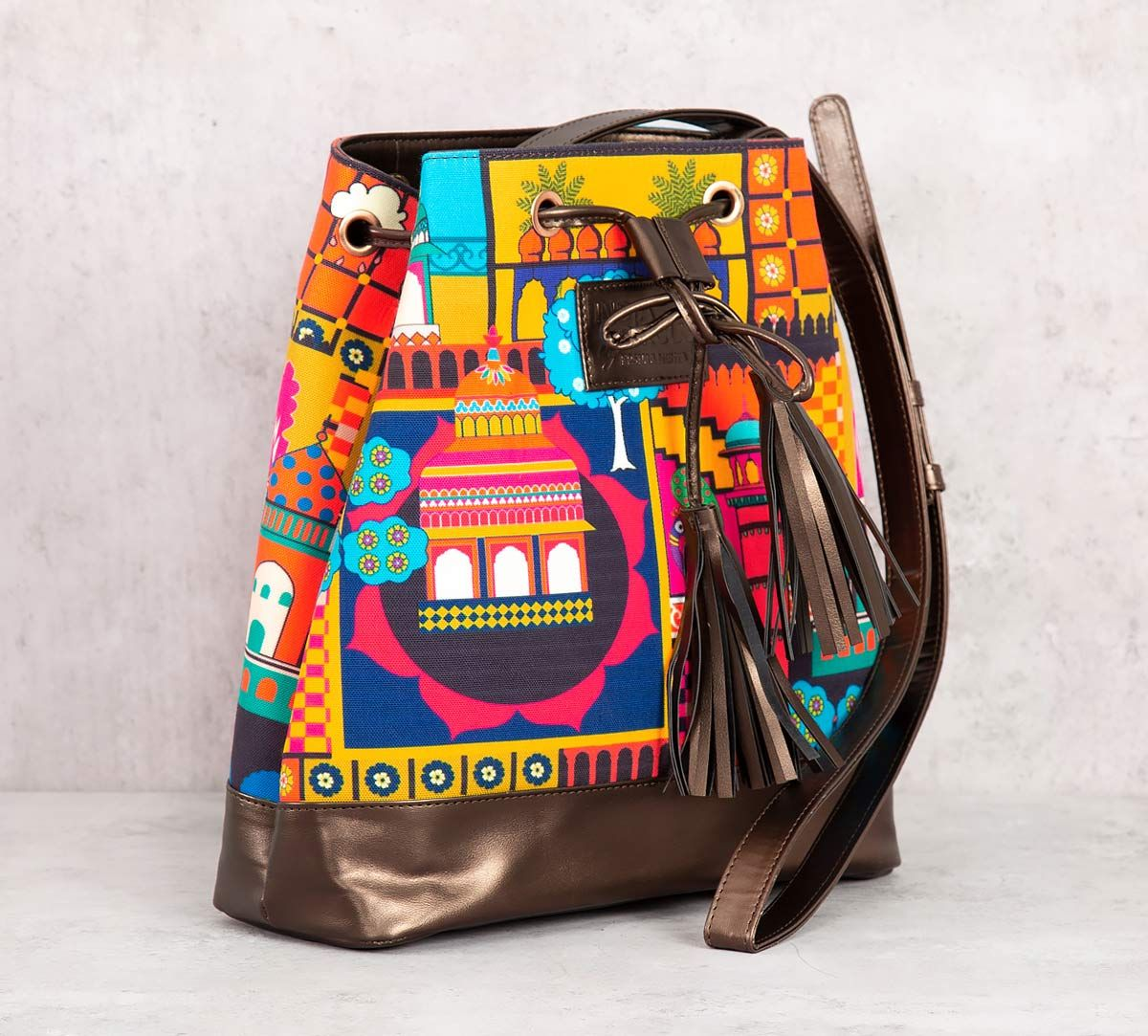 India Circus City Resonance Hobo Bag