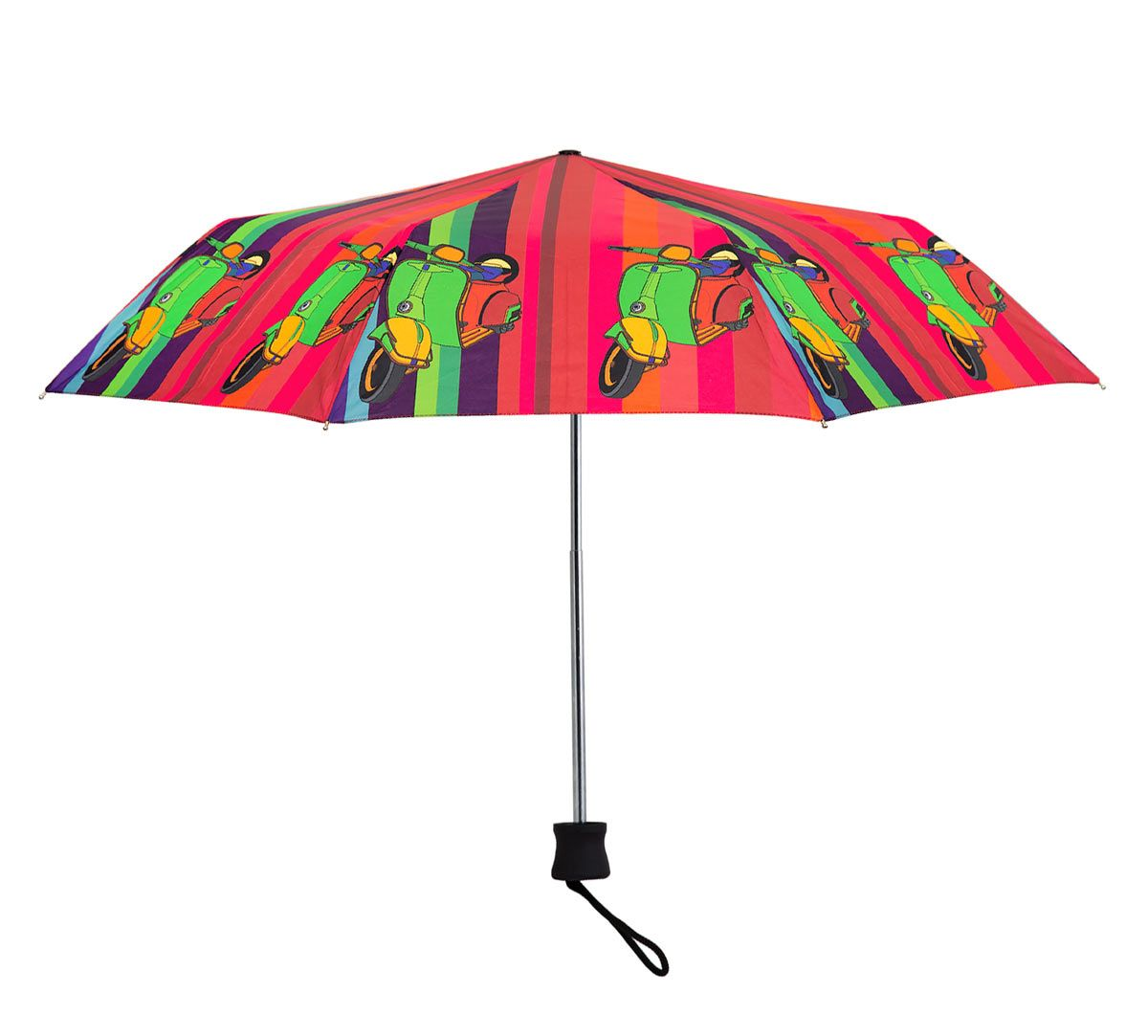 India Circus Colour Pop Scooter 3 Fold Umbrella