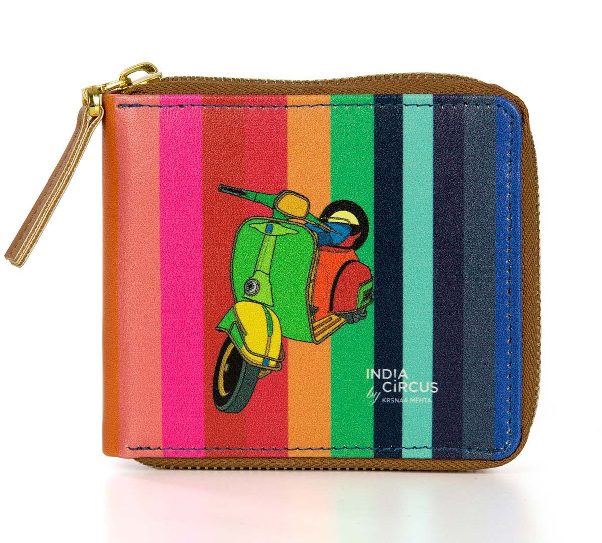 India Circus Colour Pop Scooter Zipper Wallet