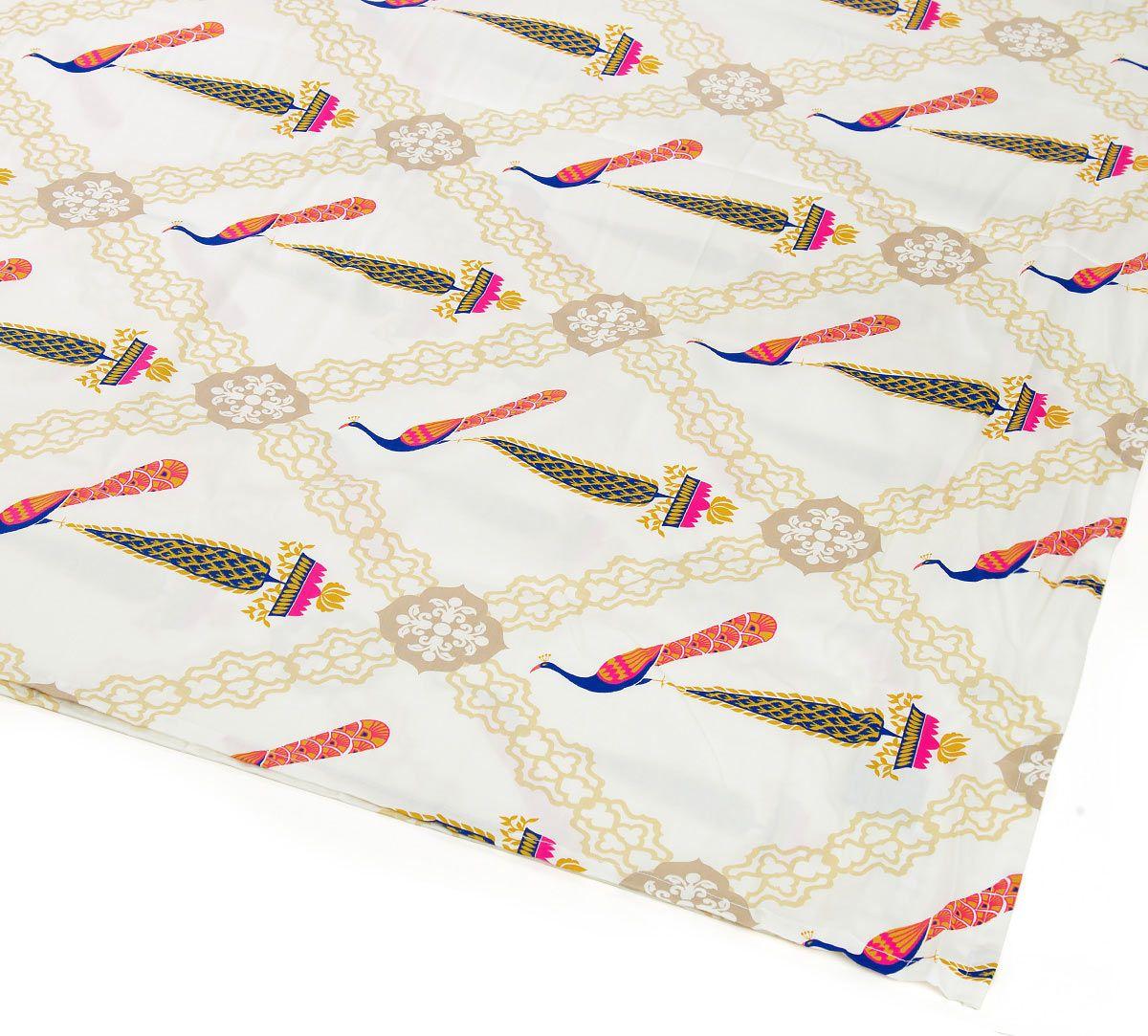 India Circus Conifer Peacock Bed Sheet Set