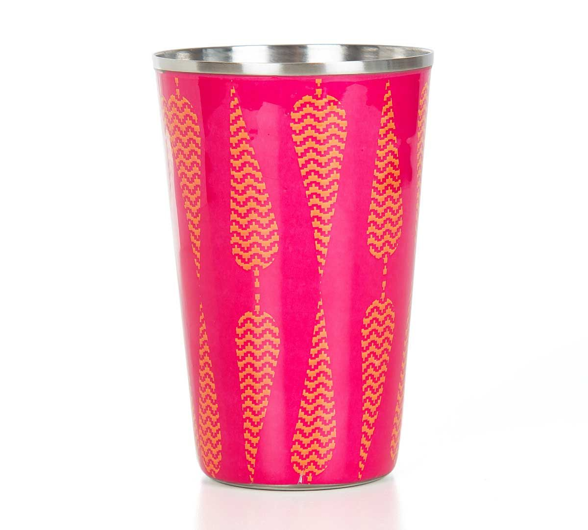 India Circus Conifer Spades Steel Tumbler Set of 2