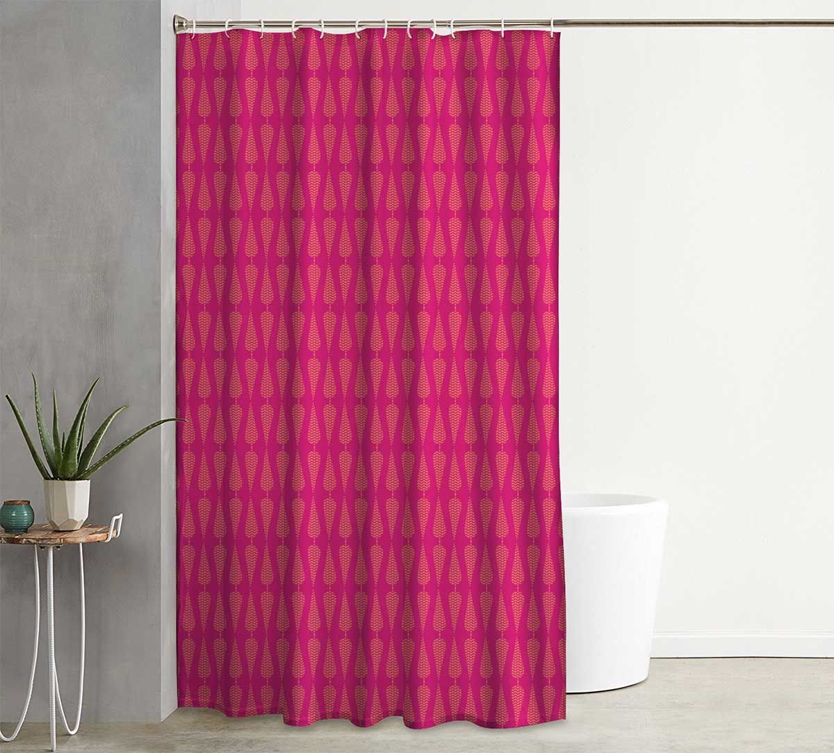 India Circus Conifer Spades Shower Curtain Tap To Expand