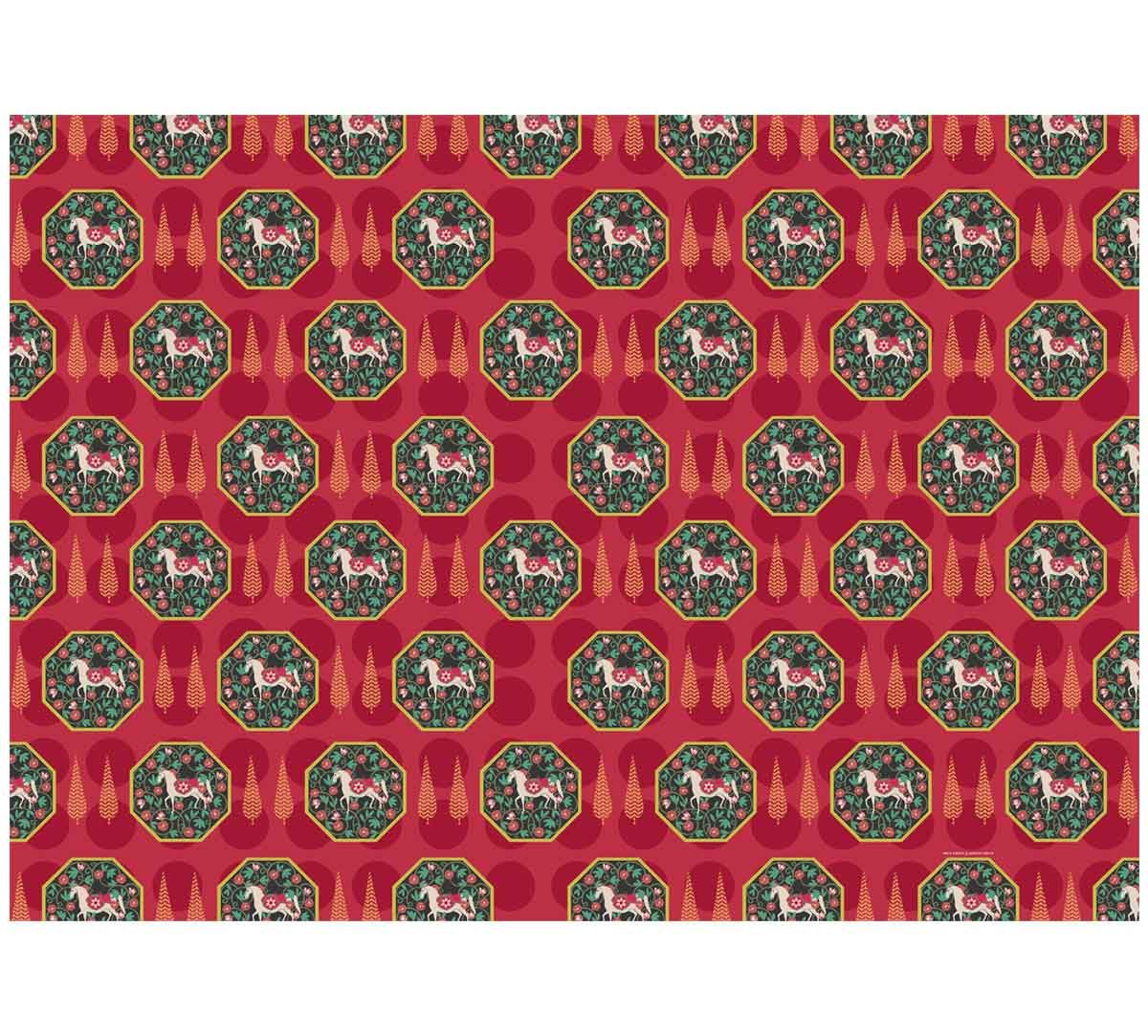 India Circus Conifer Stallion Reiteration Gift Wrapping Paper
