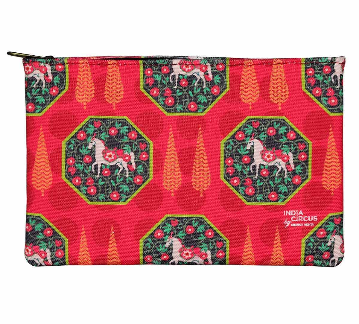 India Circus Conifer Stallion Reiteration Makeup Pouch