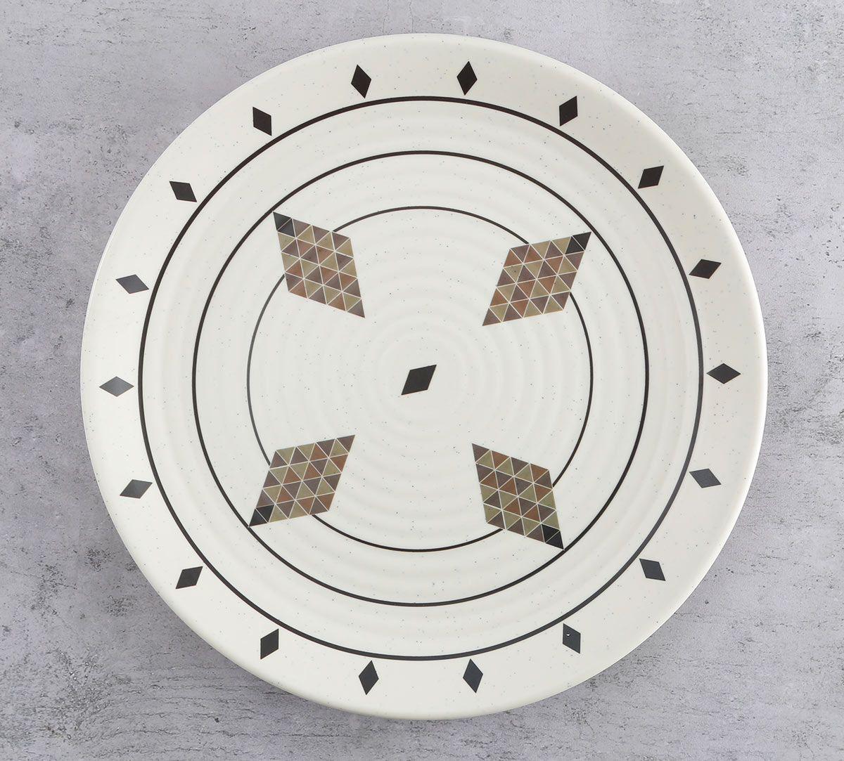 India Circus Diamond Motifs Dinner Plate