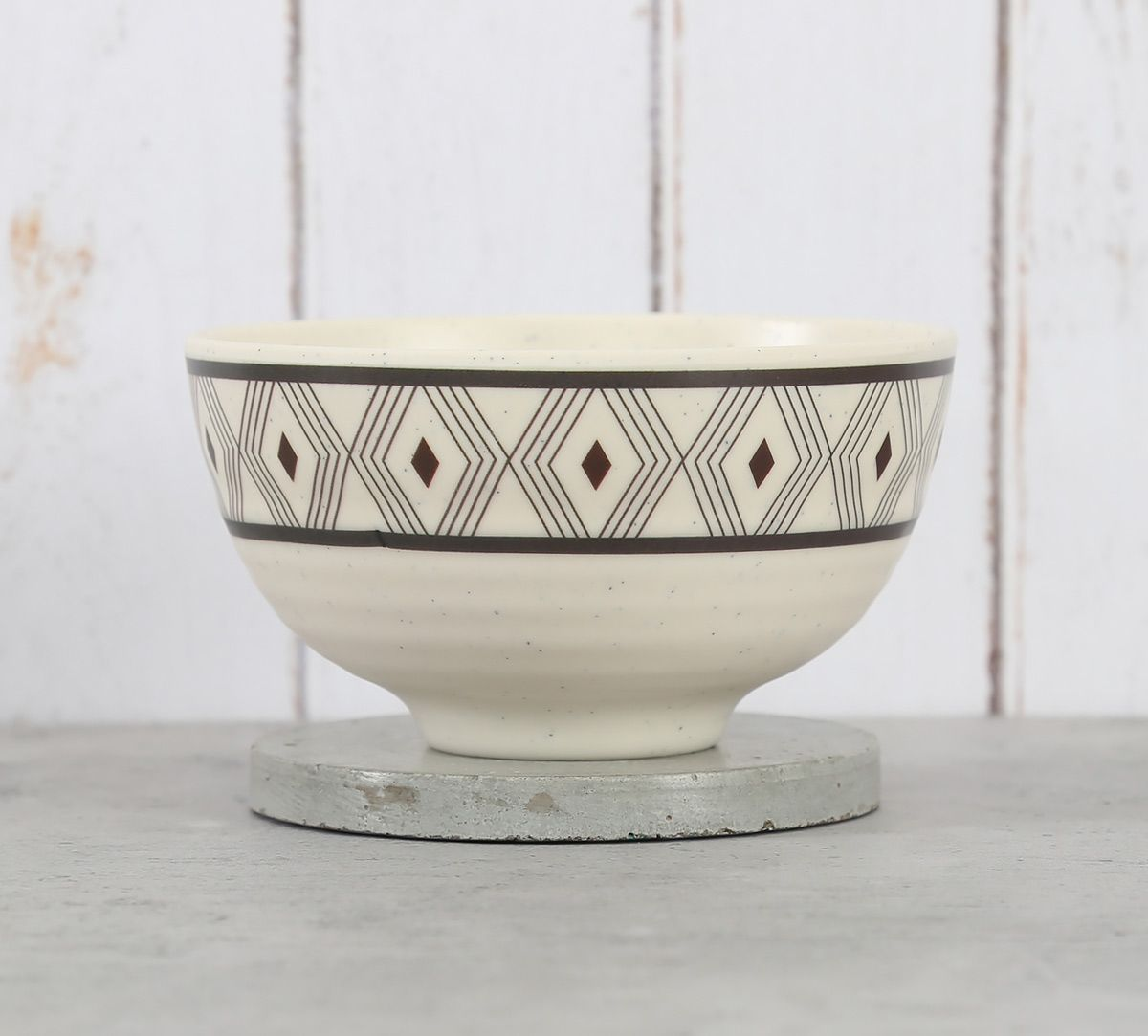 India Circus Diamond Motifs Soup Bowl