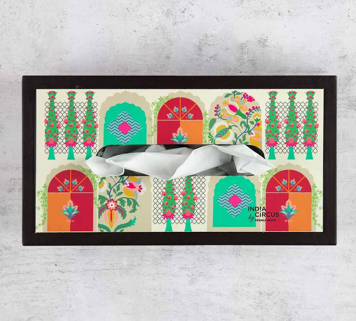 India Circus Doorframe Story MDF Tissue Box Holder