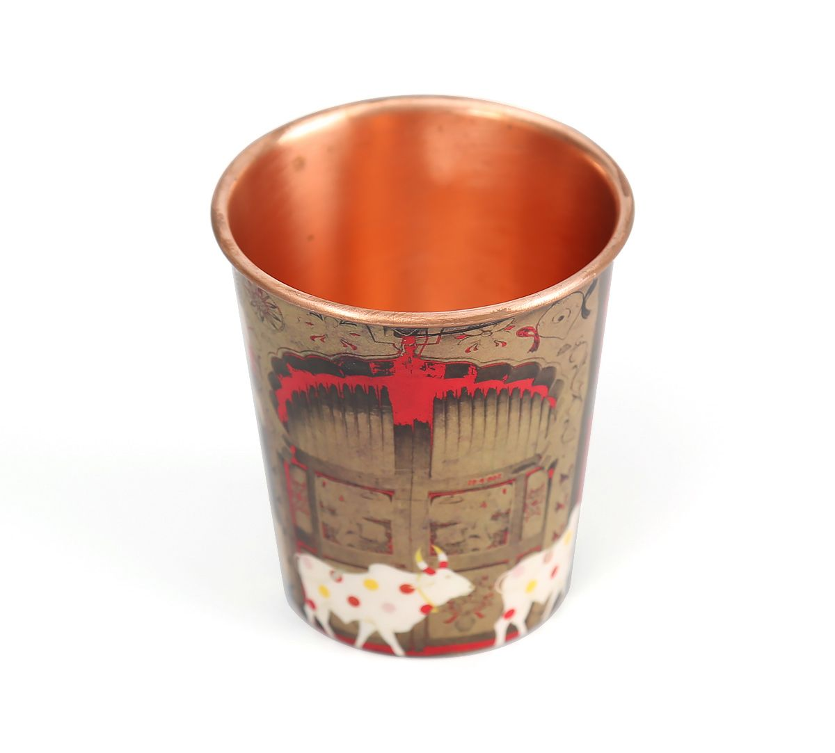 India Circus Doors of Mystical Wonder Small Copper Tumbler
