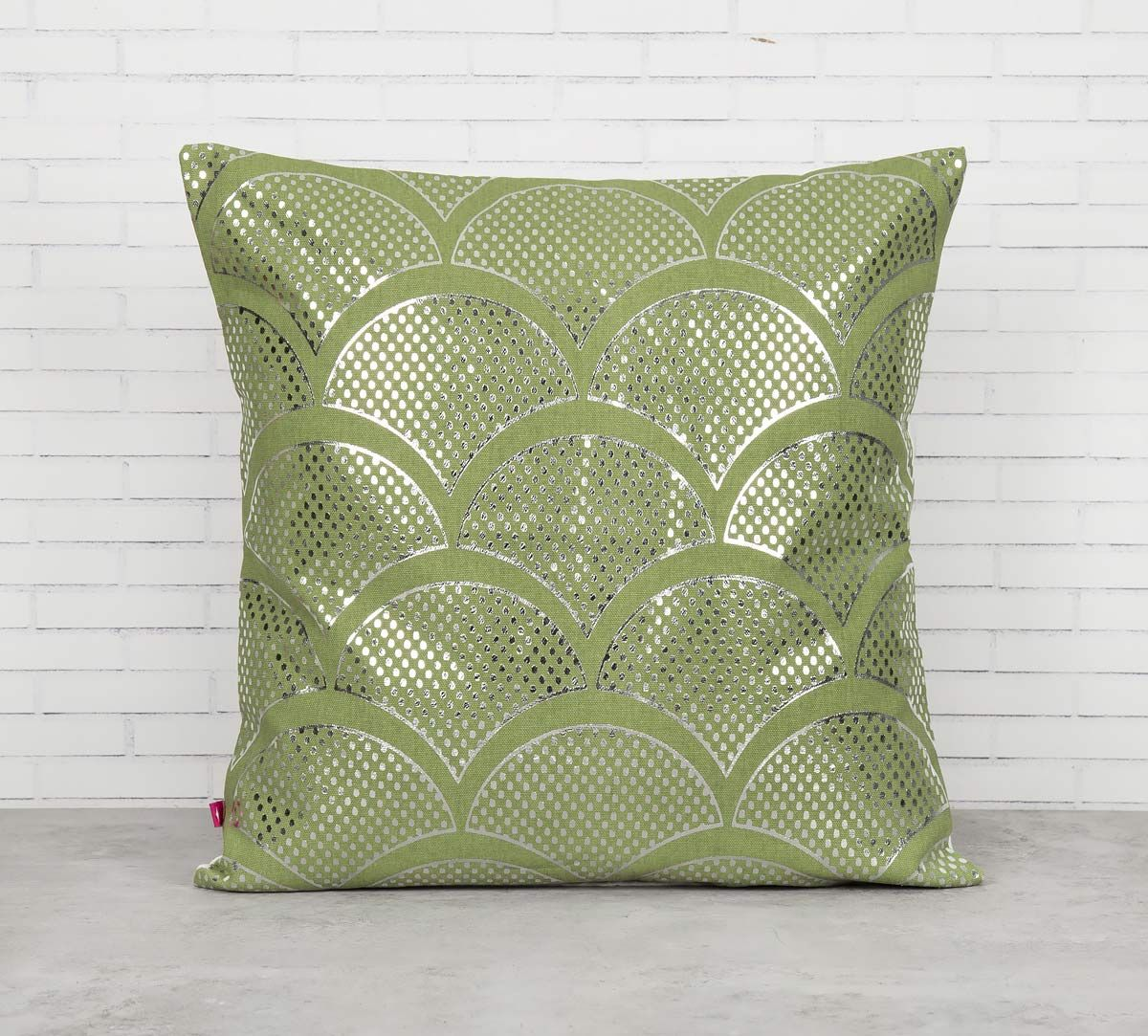 India Circus Dotted Clouds Foil Cushion Cover