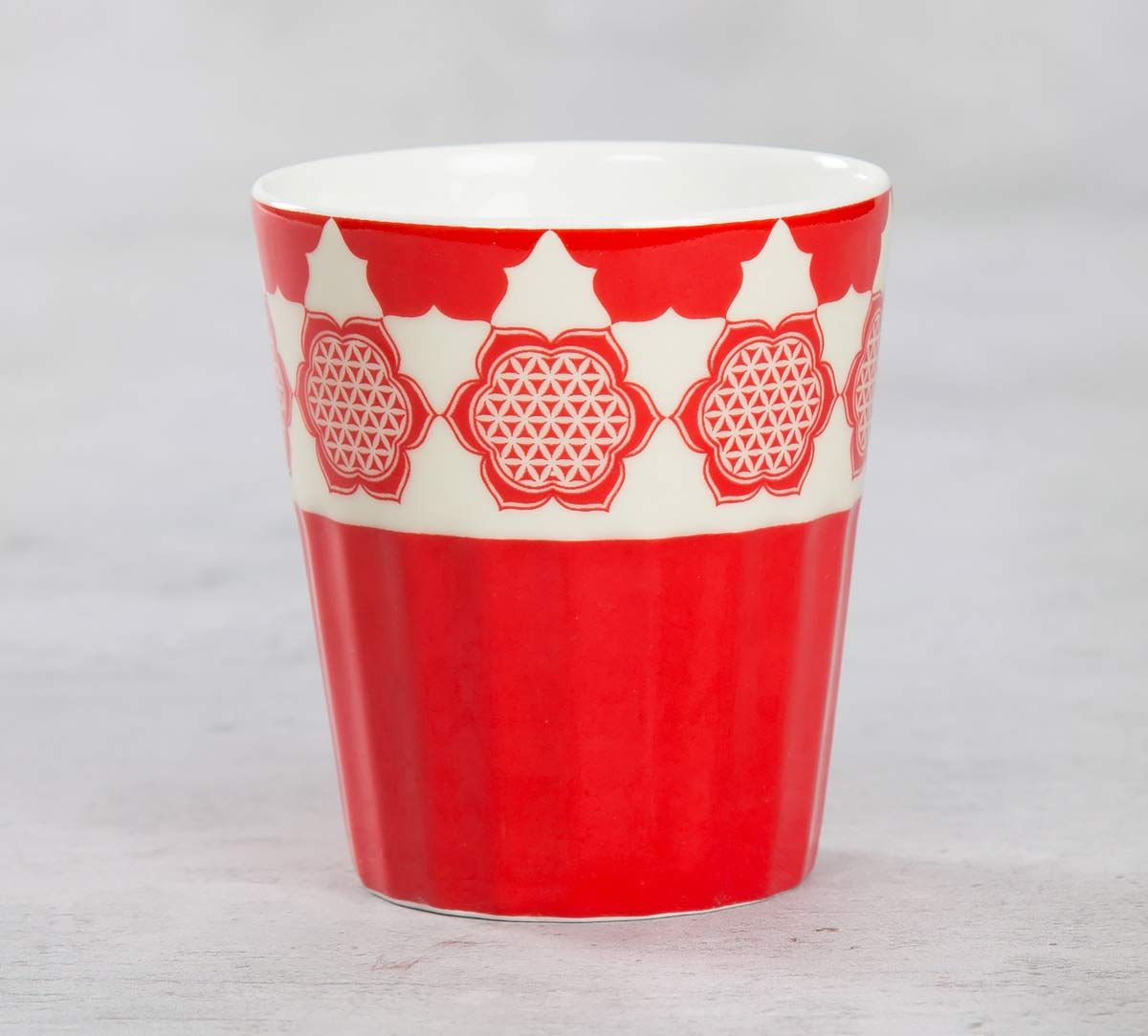 India Circus Fenced Sepals Mystery Chai Glass