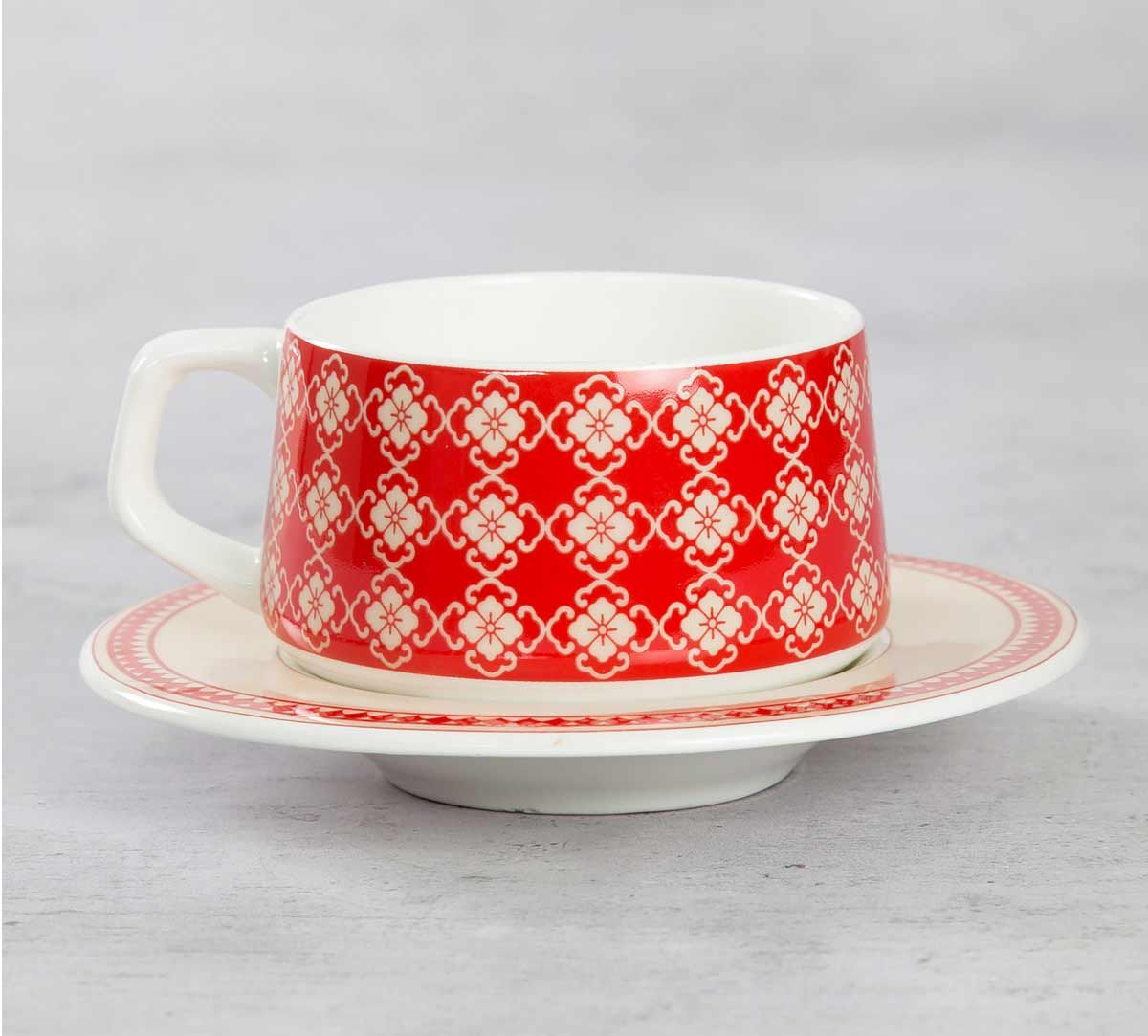 India Circus Fenced Sepals Mystery Cup and Saucer