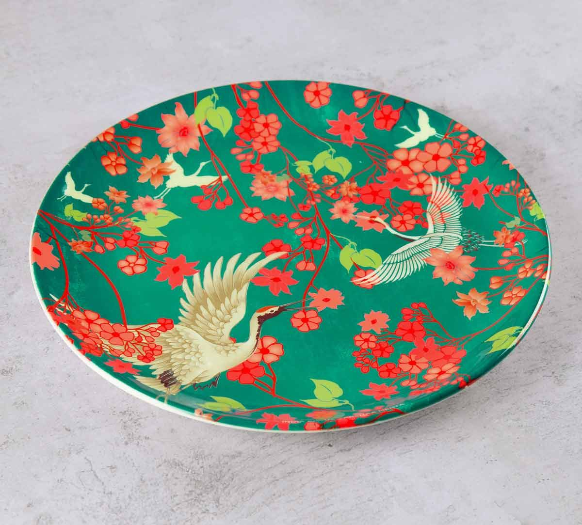 India Circus Flight of Cranes 10 inch Decorative and Snacks Platter