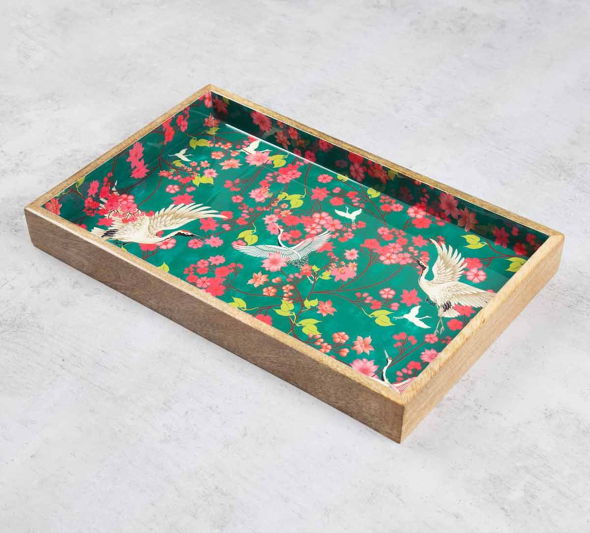 India Circus Flight of Cranes Serving Tray