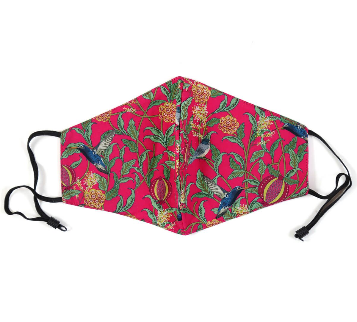 India Circus Flights of Vivers Fuchsia Comfortable Outdoor Face Mask