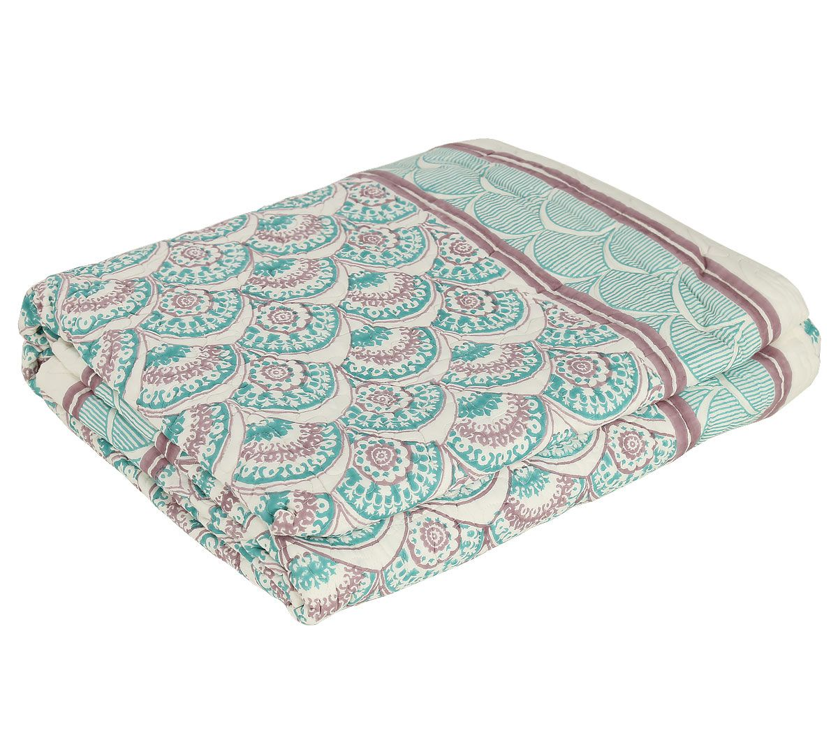 India Circus Floral Cloud Quilted Bed Cover Set