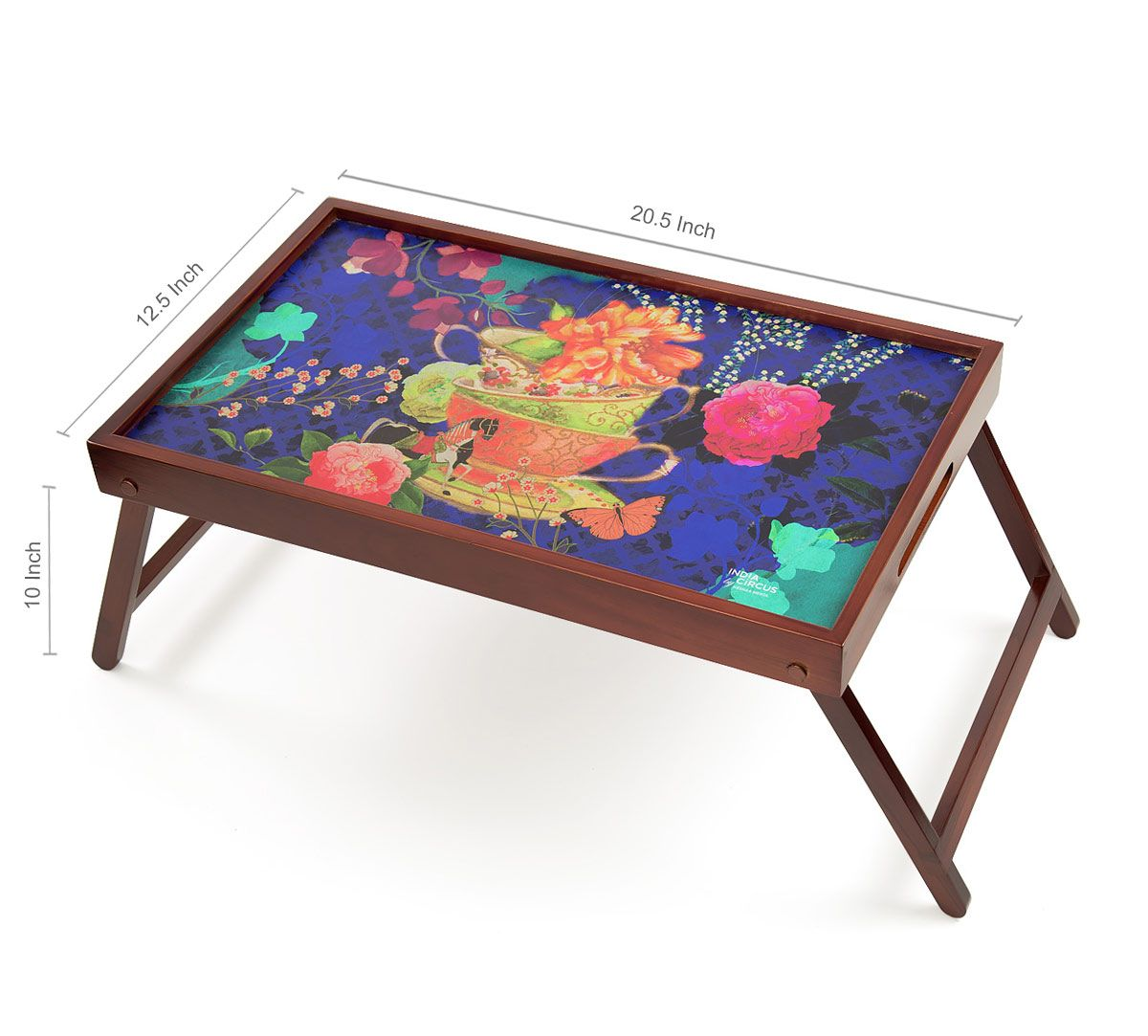 India Circus Floral Cup Illusion Breakfast Tray