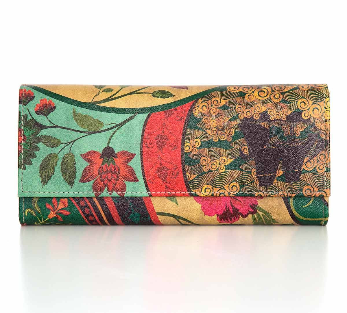 India Circus Floral Embroidery Ladies Wallet