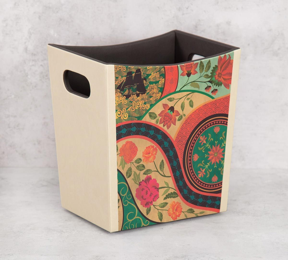 India Circus Floral Embroidery Storage Bin