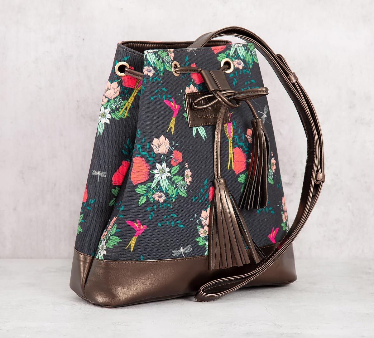 India Circus Floral Fascination Hobo Bag