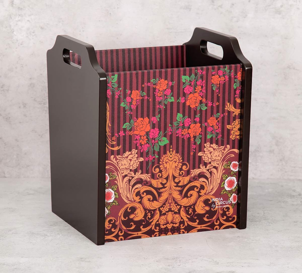 India Circus Floral Galore Magazine Holder