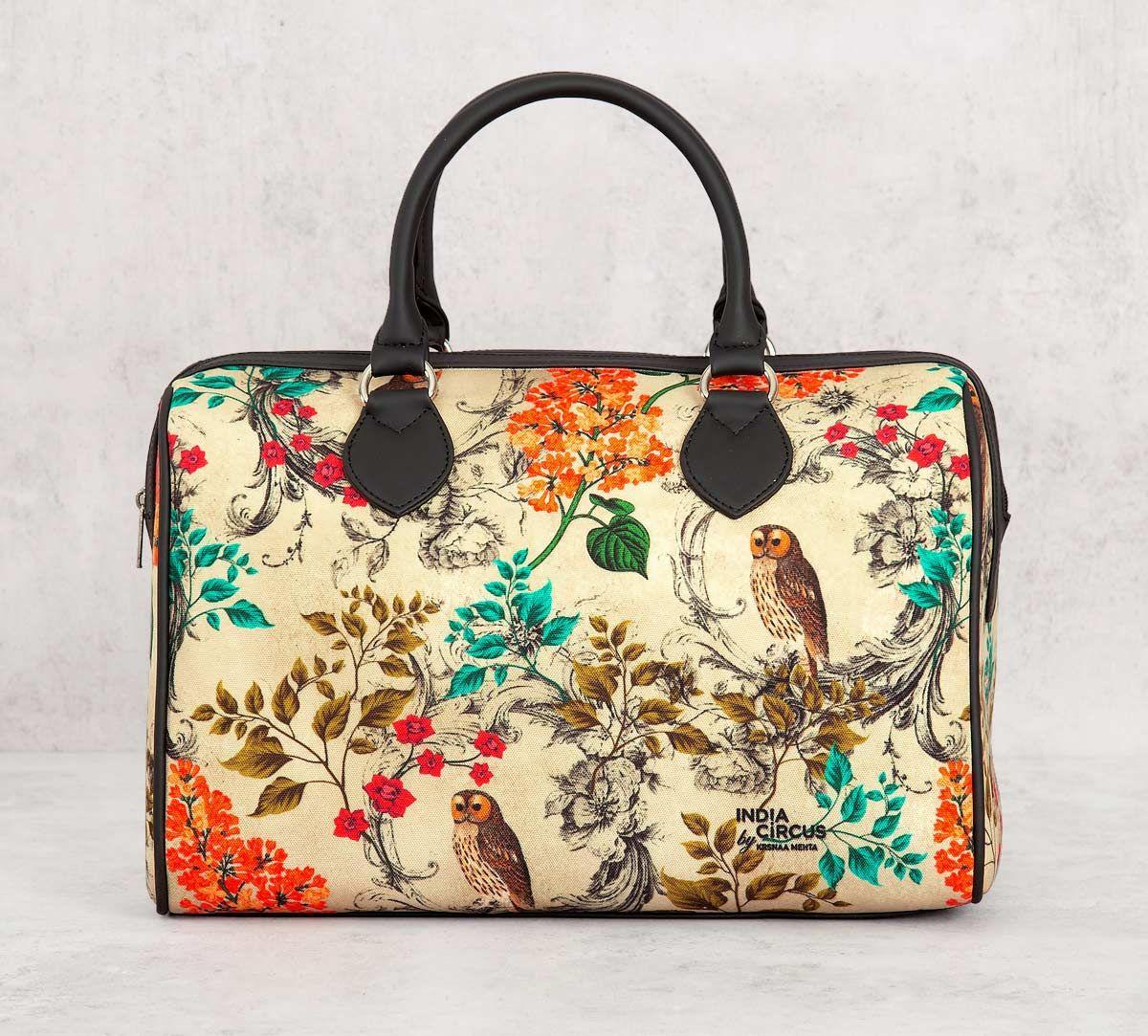 India Circus Floral Hooting Duffle Bag