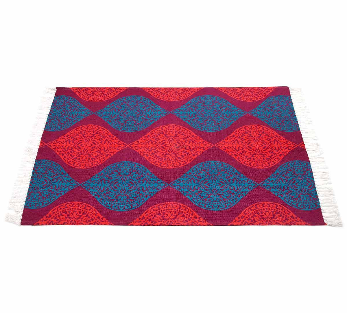 India Circus Floral Hourglas Rug