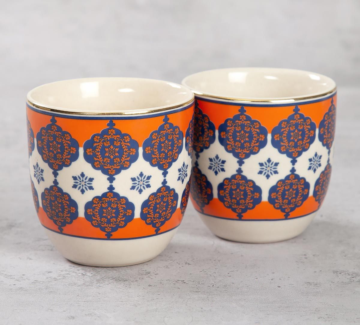 India Circus Floral Hypnosis Chai Kulhad (Set of 2)