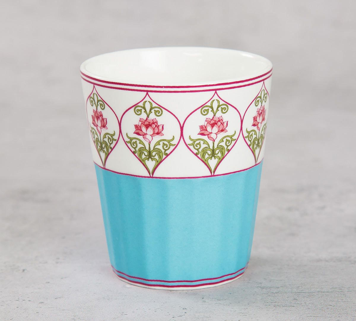 India Circus Floral Illusion Chai Glass (Set of 6)