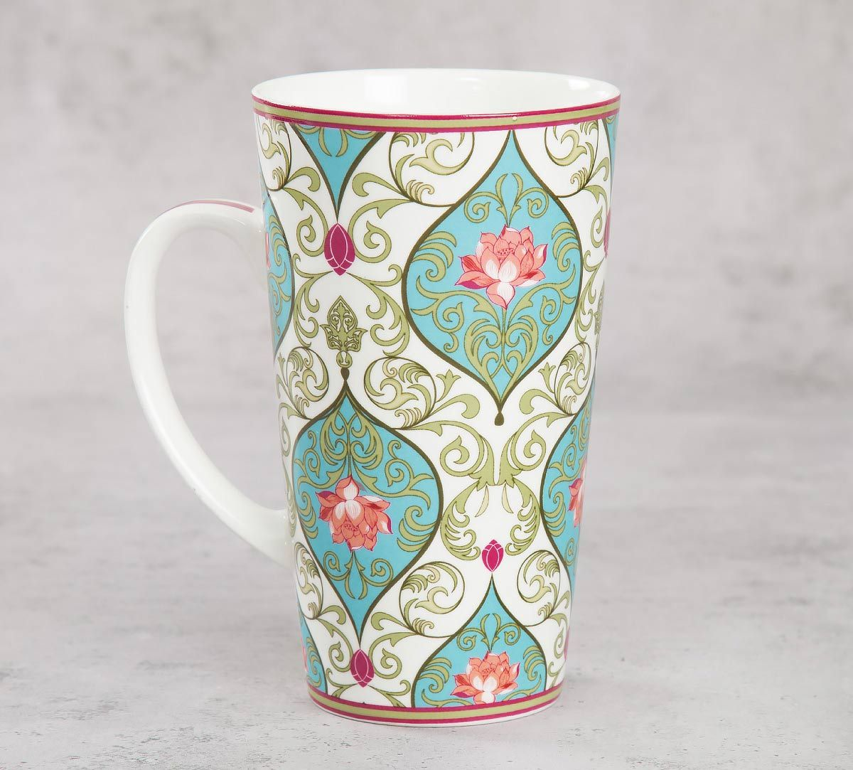 India Circus Floral Illusion Conical Mug (Set of 2)