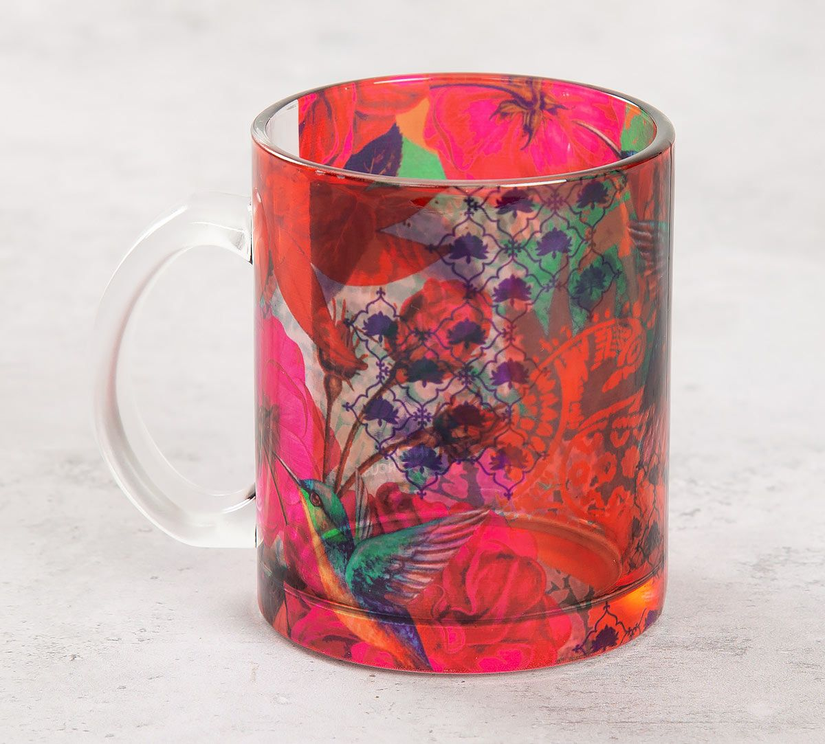 India Circus Floral Kingdom Glass Mug