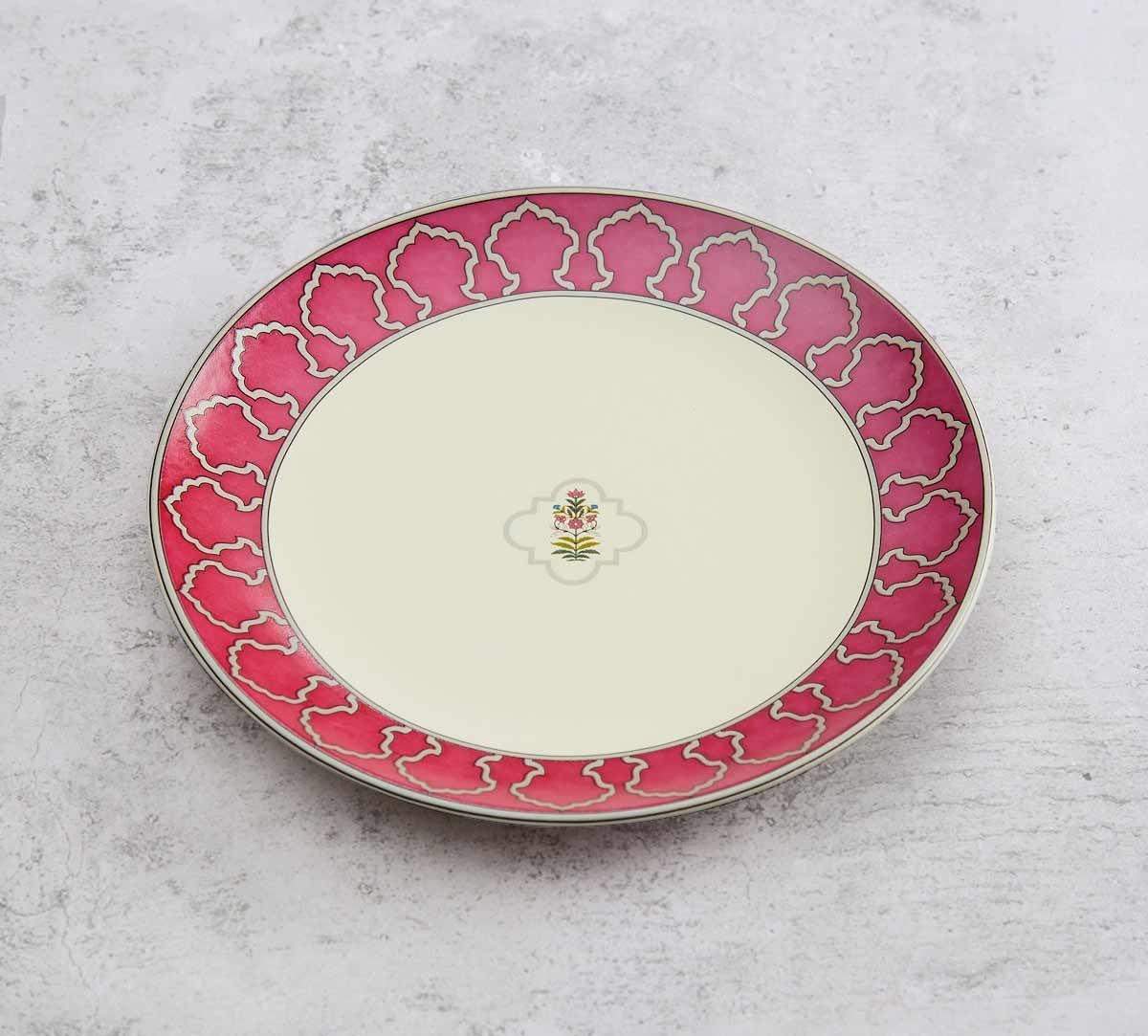 India Circus Floral Lattice Quarter Plate