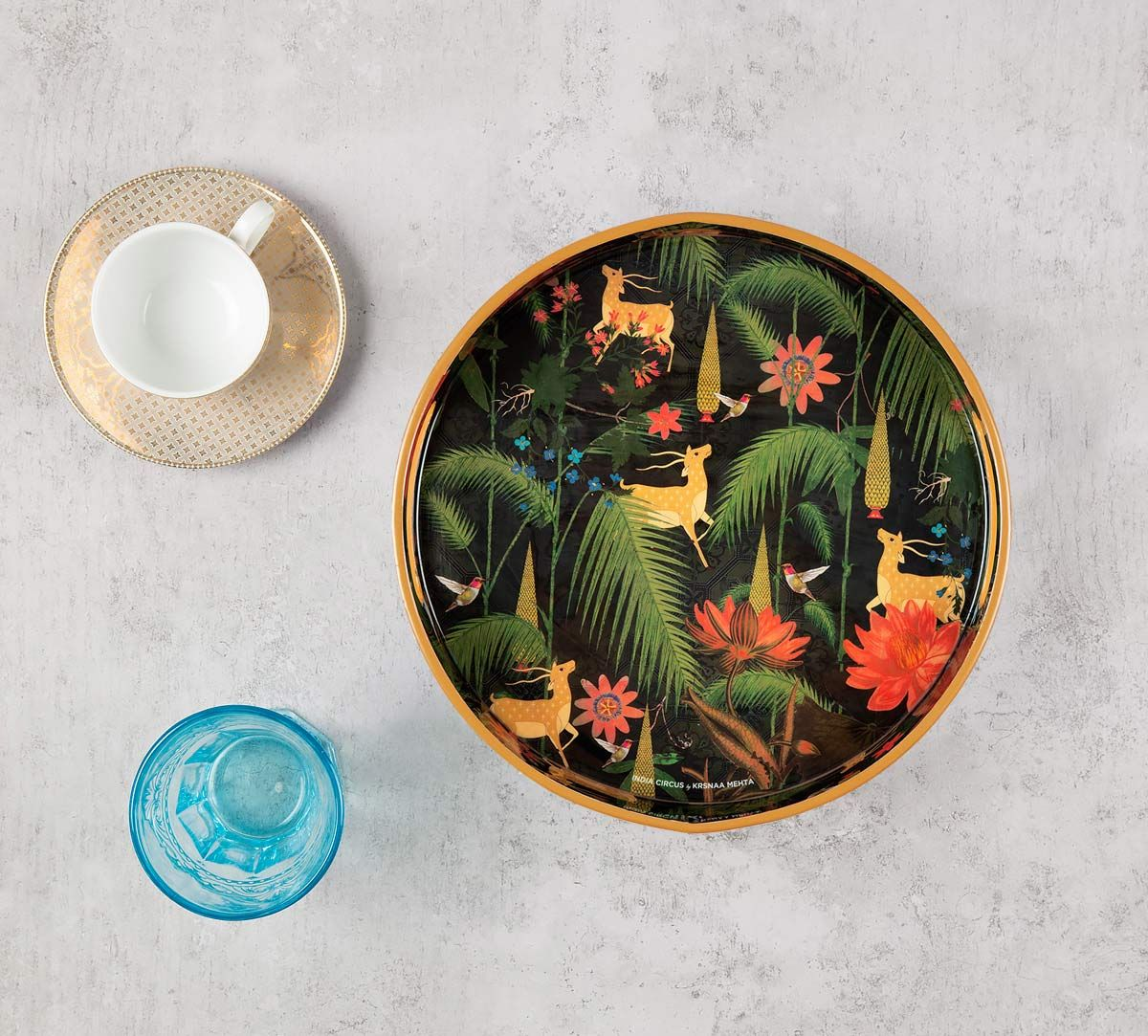 India Circus Forest Fetish Round Serving Tray