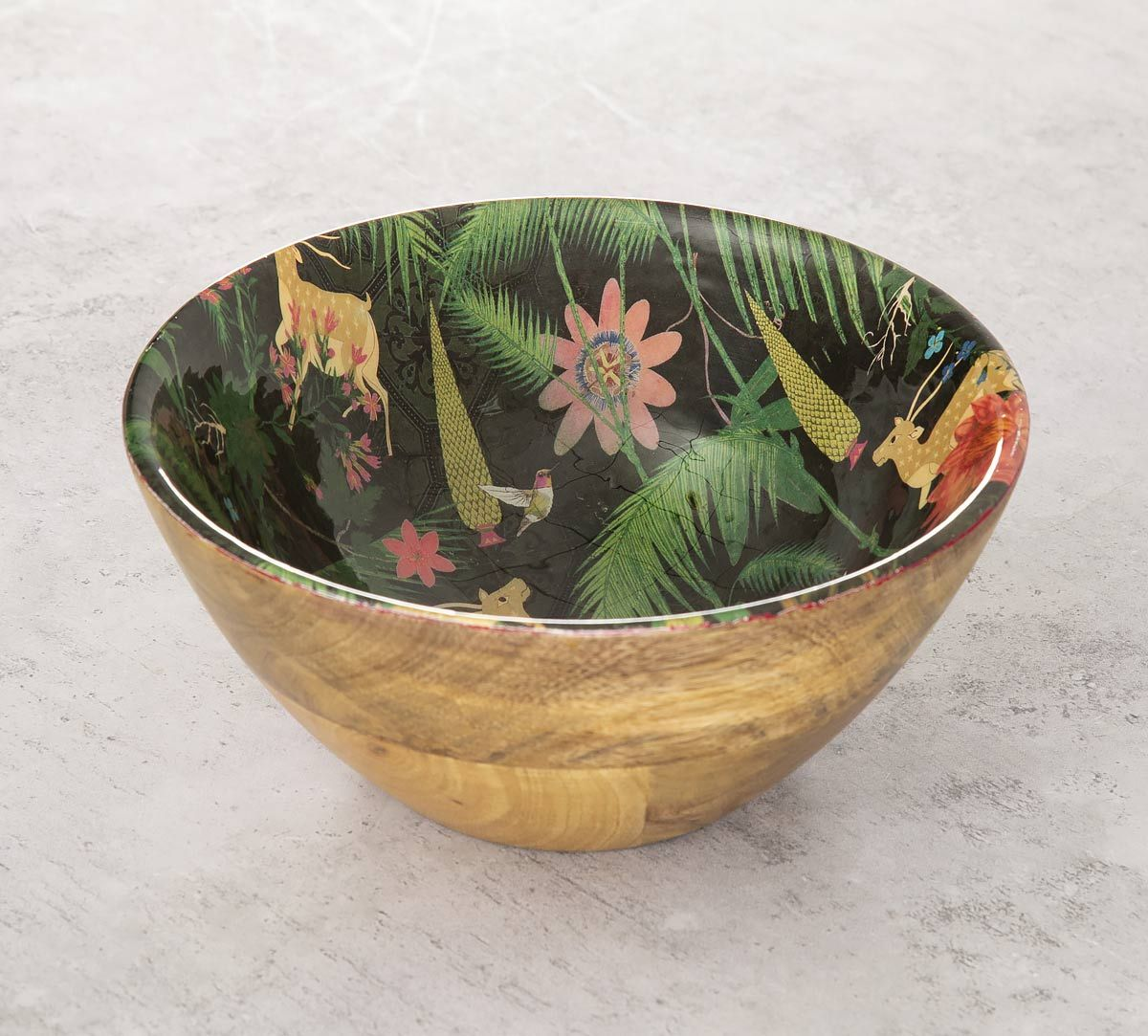 India Circus Forest Fetish Wooden Bowl