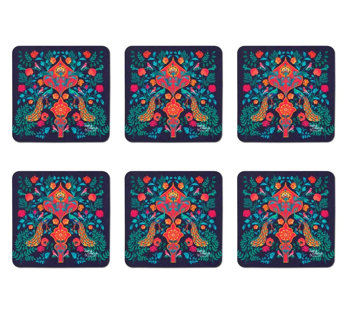 India Circus Fuchsia Birds and Floral Burst Table Coaster