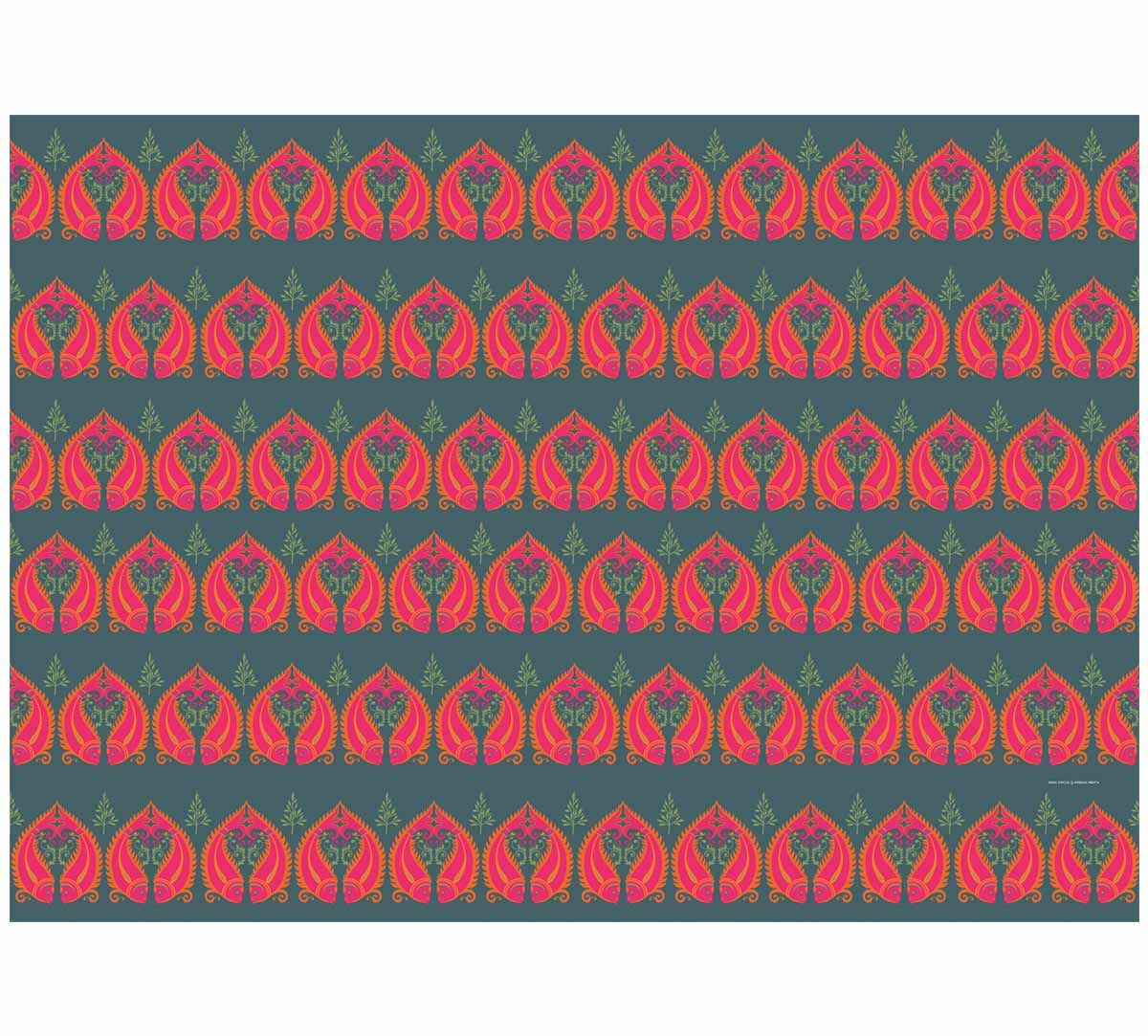India Circus Fuchsia Fish Romance Gift Wrapping Paper