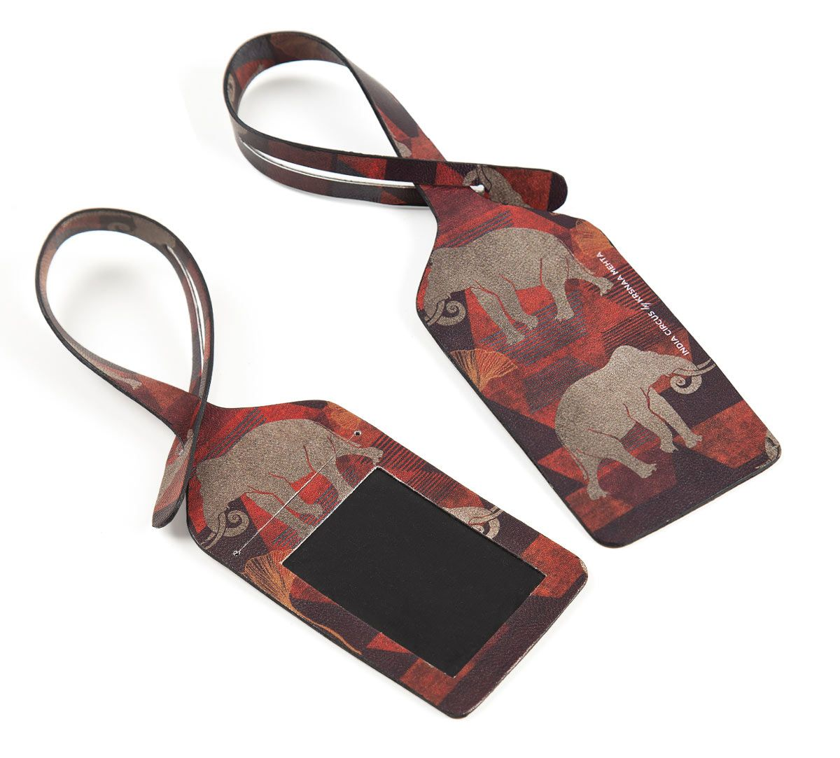 India Circus Gallant Tusker Travel Tag Set of 2