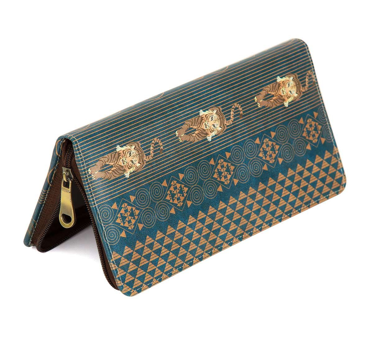 India Circus Geometrical Empress Blue Travel Wallet