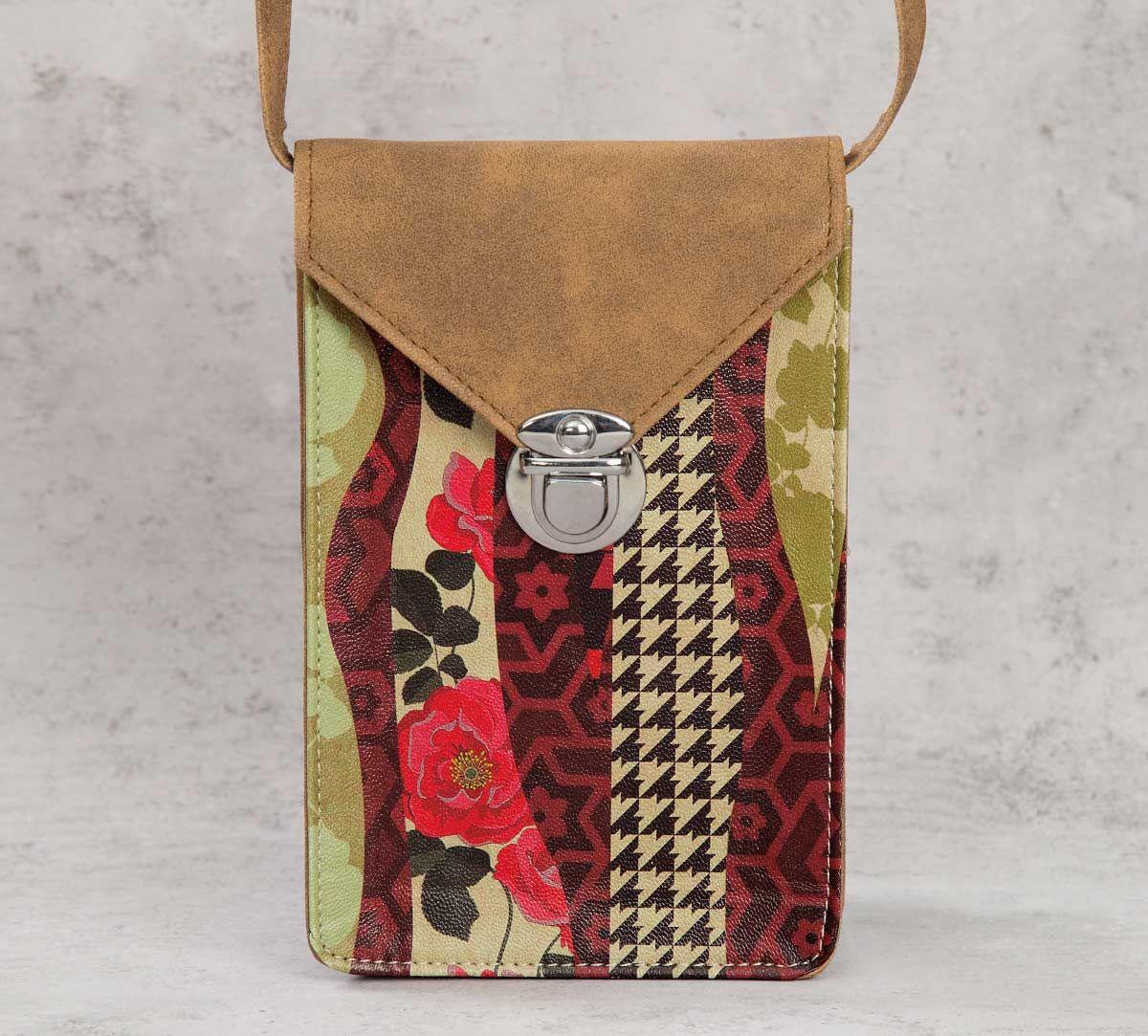 India Circus Geometrical Straps Mobile Sling Bag