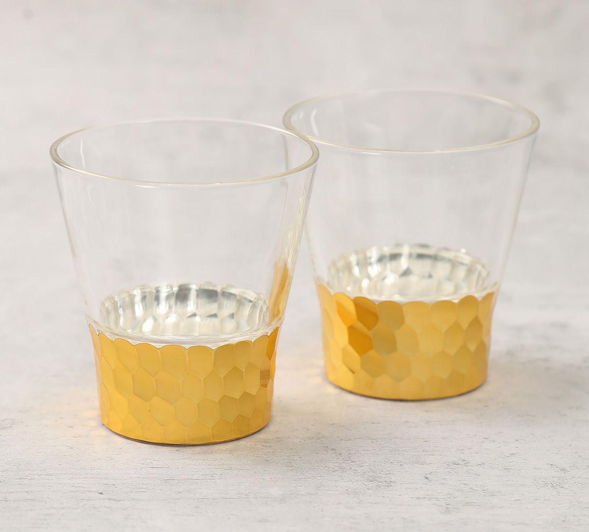 India Circus Gold Honeycomb Juice Glass (Set of 2)