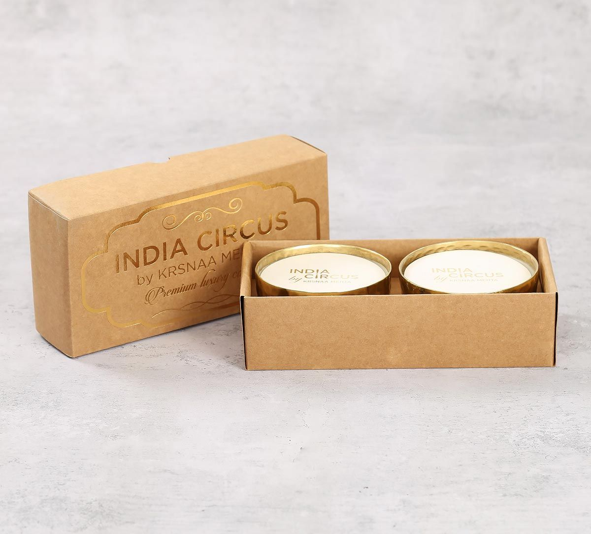 India Circus Gold Vanilla Bean Scented Bowl Candle