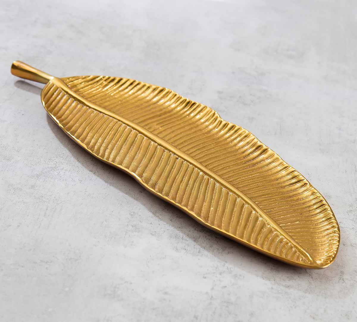 India Circus Golden Banana Leaf Big Platter