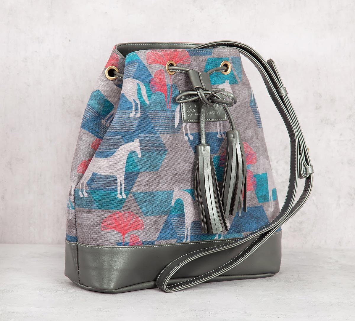 India Circus Grey Gallant Gypsy Hobo Bag
