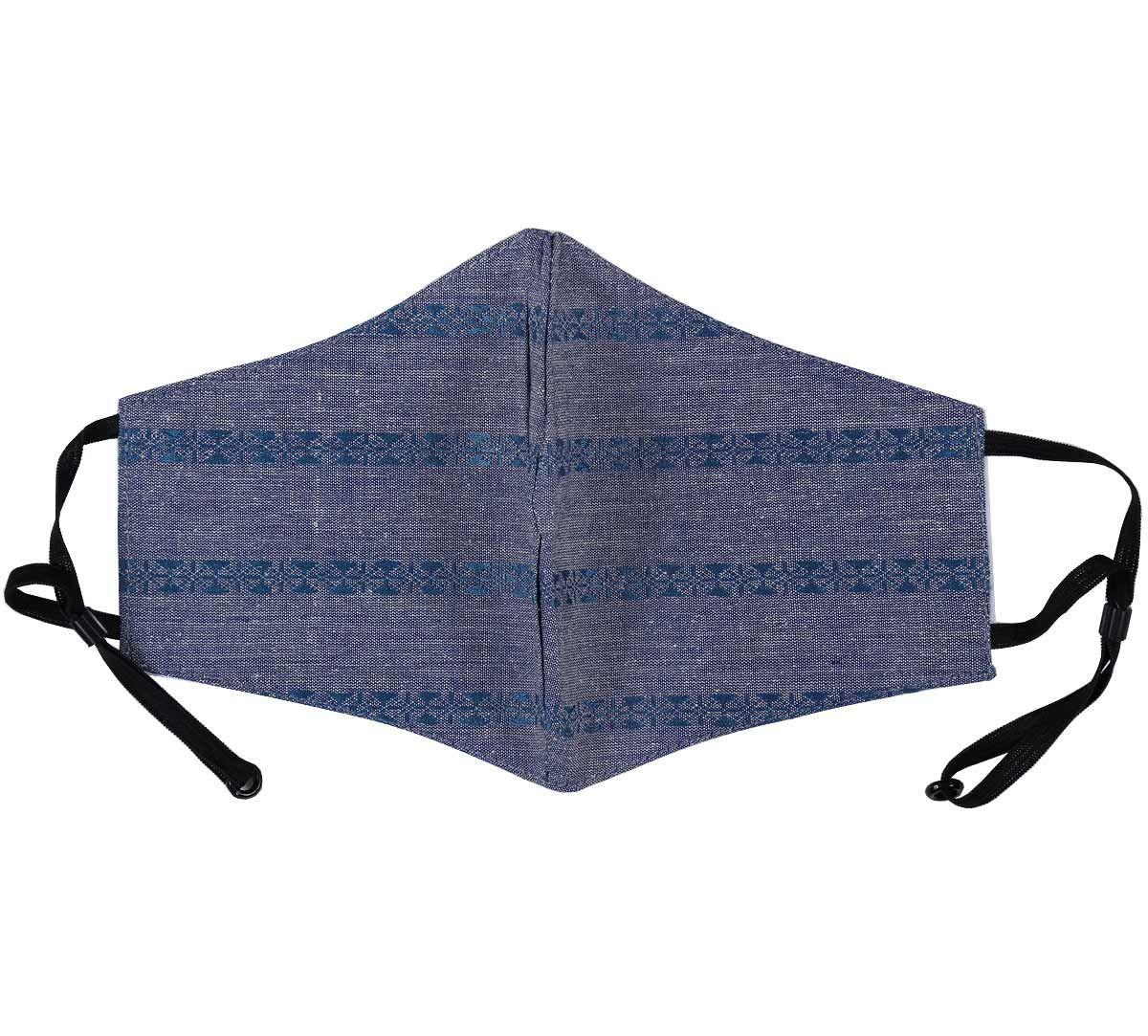 India Circus Grey Rui Phool Cotton Mask