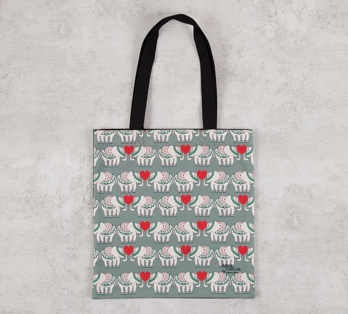 India Circus Heart Tusker Jhola Bag