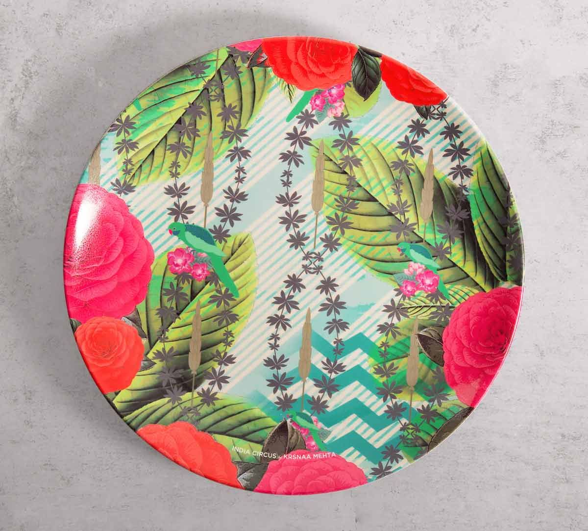 India Circus Herbs of Captivation 10 inch Decorative and Snacks Platter