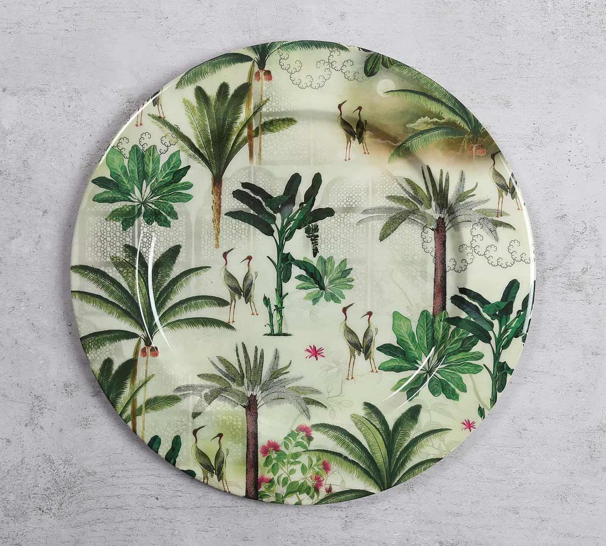 India Circus Heron's Garden Iron Decor Plate