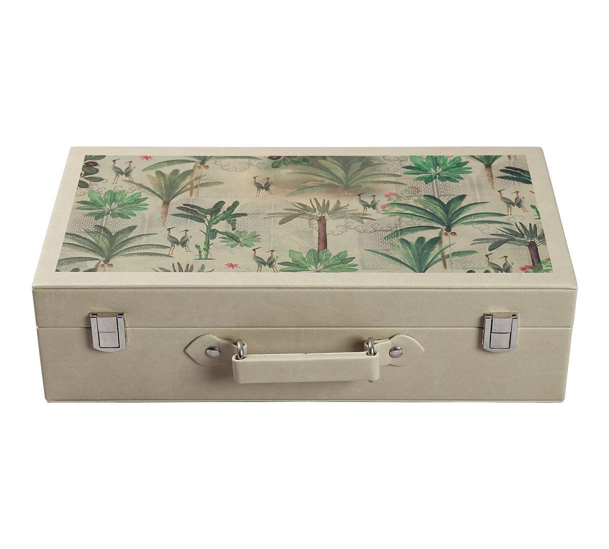 India Circus Heron's Garden Leather Watch and Eyewear Box